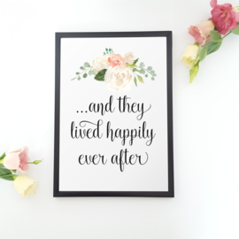 Poster 'And they lived happily ever after'