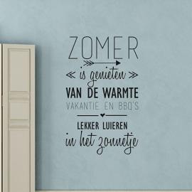 Muursticker 'Zomer is genieten...'