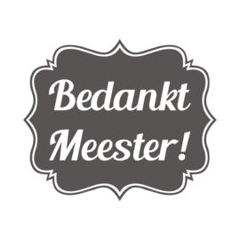 Label vinylsticker Bedankt Meester!