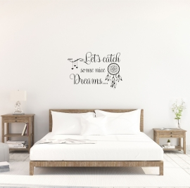 Muursticker 'Let's catch some nice dreams'