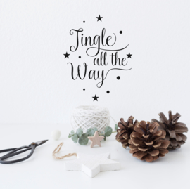Tekststicker 'Jingle all the way' 20 x 25 cm