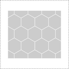 Glasfoliesticker Geometrische zeshoekjes- band
