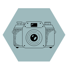 Zeshoek 'Fototoestel'