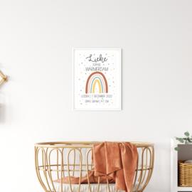 Geboorteposter 'Regenbogen'