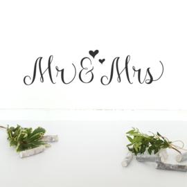 Muursticker 'Mr & Mrs'
