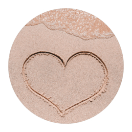 Cirkel 'Hartje in het zand'