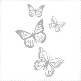 Glasfoliesticker Vlinderset