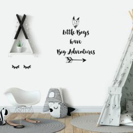 Muursticker 'Little Boys have big Adventures'