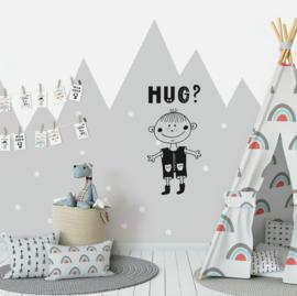 Muursticker 'Hug?'