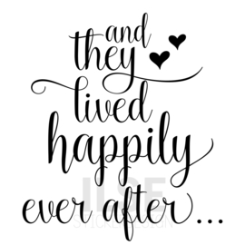 Muursticker 'And they lived happily ever after'