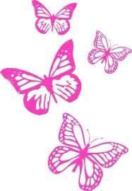 Afbeeldingstickers set van vier vlinders
