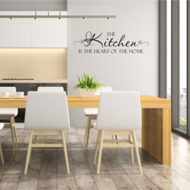 Muursticker 'The kitchen is the heart of the home' 1