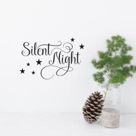 Tekststicker 'Silent Night' 18 x 28 cm