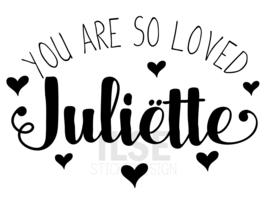 Geboortesticker 'You are so loved'