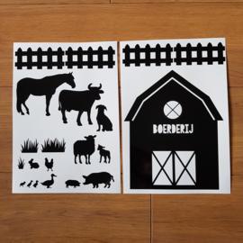 Uitbreidingsset stickers Boerderij, HERBRUIKBAAR
