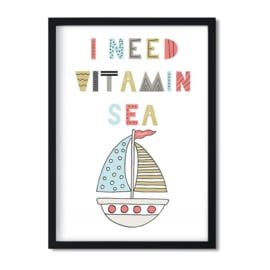 Poster 'I need vitamin sea'