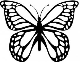 Afbeeldingsticker Grote Vlinder
