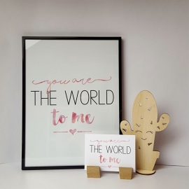 Postkaart / Interieurkaart 'You are the world to me'