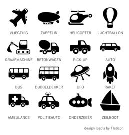 Houten banner 'naam met voertuig naar keuze'