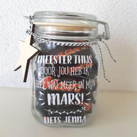 Label 'Meester - door jou heb ik heel wat meer in mijn MARS'