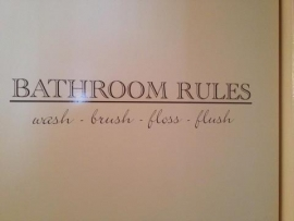 Muursticker Bathroom Rules