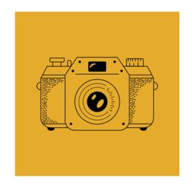 Vierkant 'Fotocamera'
