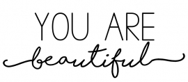 Tekststicker You are beautiful gratis bij besteding vanaf € 25,-