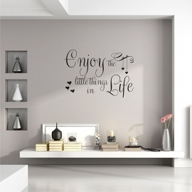 Muursticker 'Enjoy the little things in life'