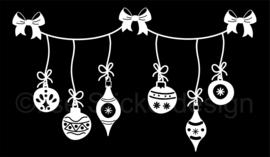Statische raamsticker 'Kerstballen'- HERBRUIKBAAR