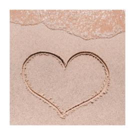 Vierkant 'Hartje in het zand'