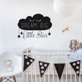 Muursticker 'Dream big, little Star'