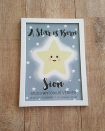 Geboorteposter A star is born