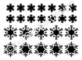 Statische raamsticker 'Sneeuwvlokken'- HERBRUIKBAAR