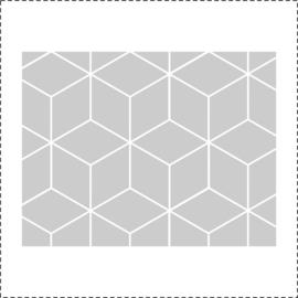 Glasfoliesticker Geometrische kubussen - band