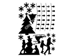 Uitbreidingsset stickers 'Sneeuwpret', HERBRUIKBAAR
