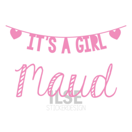 Geboortesticker 'It's a girl'