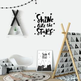 Muursticker 'Shine like the Stars'