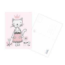 Postkaart / Interieurkaart 'Prinses Poes'