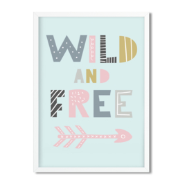 Postkaart / Interieurkaart 'Wild and Free'