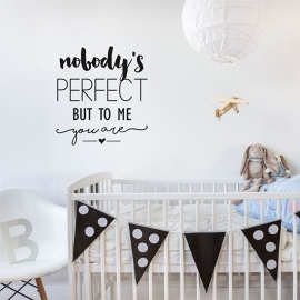 Muursticker 'Nobody's perfect'