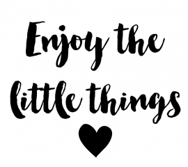 Tekststicker Enjoy the little things gratis bij besteding vanaf € 15,-
