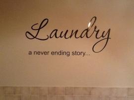 Muursticker Laundry a never ending story