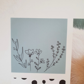 Vierkant 'Veldbloemen 1'