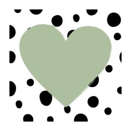 Vierkant 'Hartje met Dots'