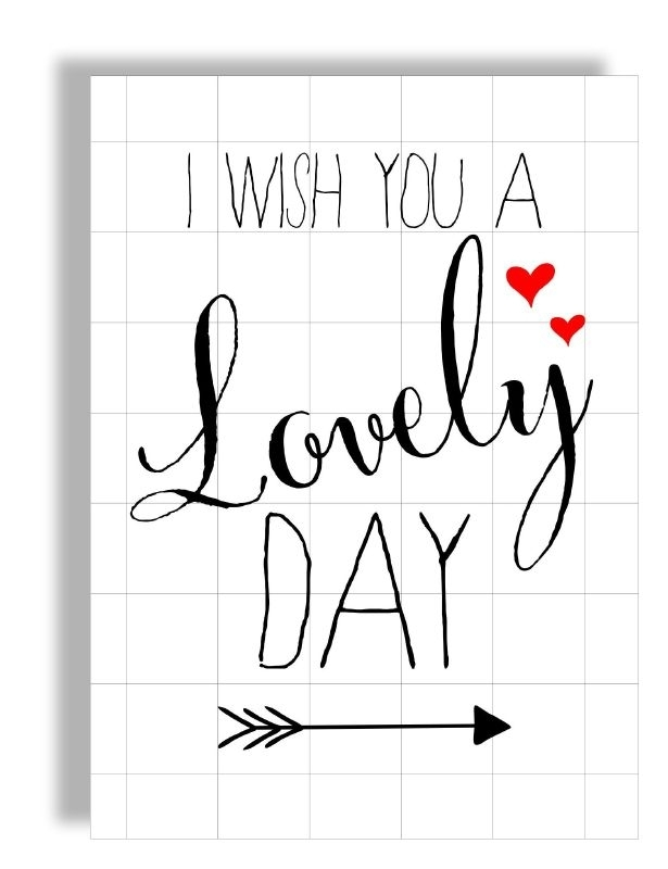 Postkaart / Interieurkaart 'I wish you a lovely day'