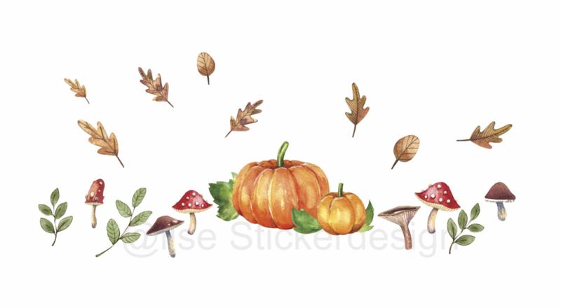 Raamsticker 'Herfst in kleur', HERBRUIKBAAR