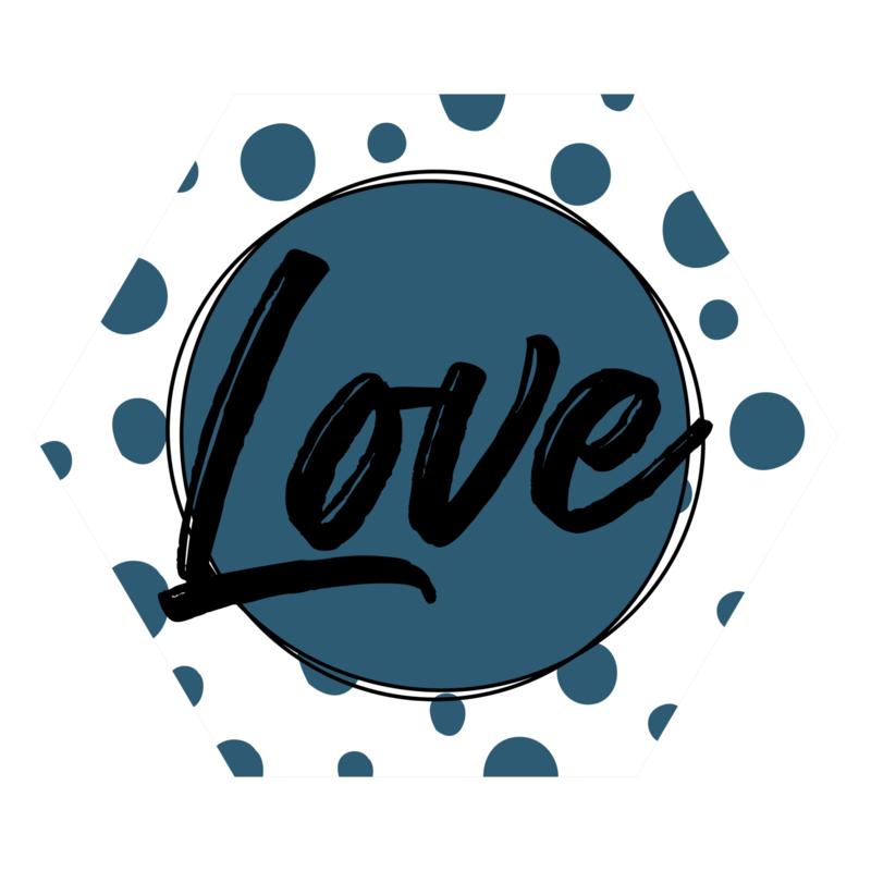Zeshoek 'Love'