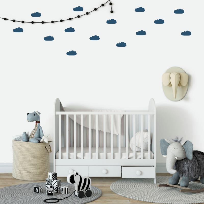 Muursticker 'Wolken' 24 stuks
