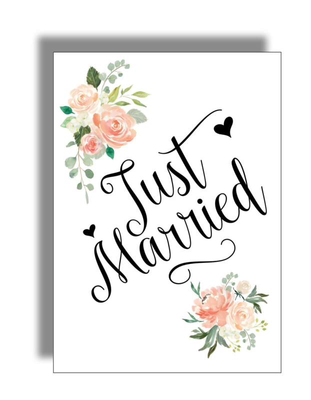 Postkaart 'Just Married'