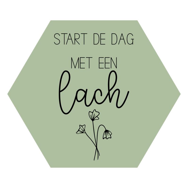 Zeshoek 'Start de dag met een lach'